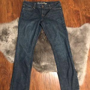American Eagle Women's 14 Long 77 Straight Jeans